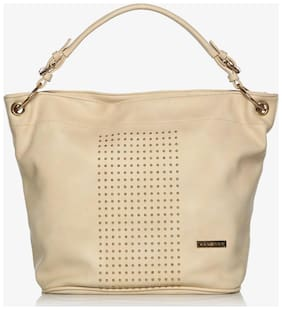 Addons Faux Leather Women Handheld Bag - White