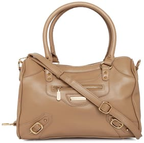 Addons PU Women Shoulder Bag - Beige