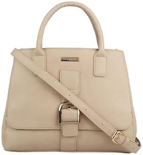 Addons Women Solid PU - Tote Bag Beige