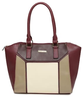 Addons Women Solid Pu - Tote Bag Maroon
