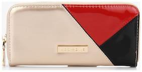 Addons Women PU Wallet - Gold
