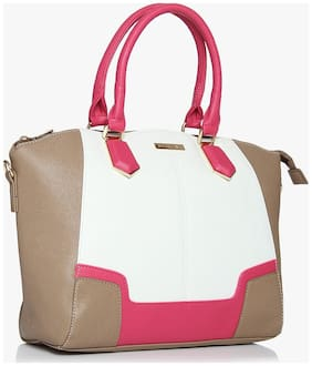 Addons Faux leather Women Handheld bag - Pink