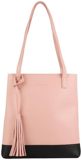 Addons Women Solid PU - Tote Bag Pink