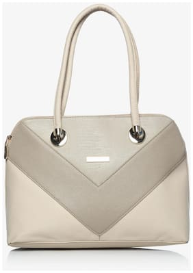 Addons Women Solid Pu - Tote Bag White