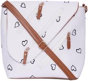 Regular Sling Bag ( White )