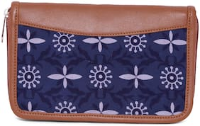 Printed Clutches ( Navy Blue )