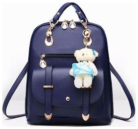 Aeoss Blue Faux Leather Backpack