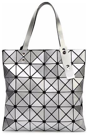 Aeoss Woman Shoulder Handbag | College Office Casual Bag for Girls Women Teens | Geometry Laser Diamond Compact Foldable Tote | Folded Bao Bao Bag