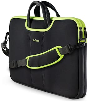 AirCase Black Nylon Laptop Backpack