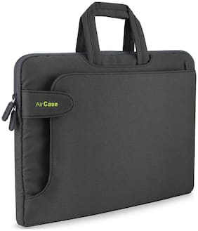 AirCase C17 13-inch to 14-inch Laptop Sleeve with Handle, Rugged, Multifunction Bag - Folio (Grey)