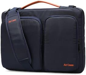 AirCase Blue Nylon Laptop messenger bag