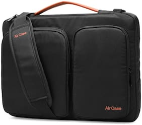AirCase Black Nylon Laptop messenger bag