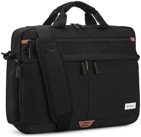 AirCase Black Nylon Laptop messenger bag