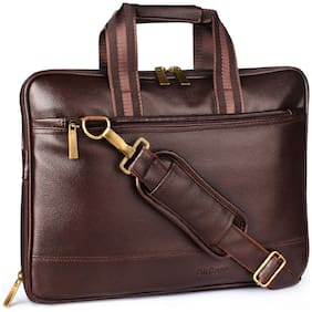 AirCase Brown Leather Laptop Sleeve