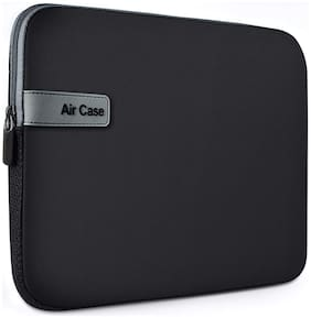 AirCase Laptop Bag Sleeve Case Cover for 15.6-inch Laptop MacBook;Protective (Black)