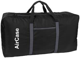 AirCase Polyester  Foldable Duffel Travel Bag for Men & Women (Black)