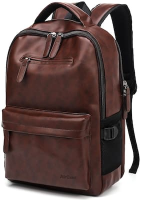 AirCase 25 ltr Brown Leather Laptop backpack