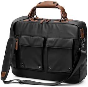 AirCase Black Canvas Laptop messenger bag