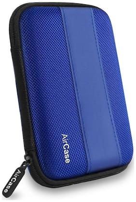 AirPlus AirCase Hard Drive Case/Cover For 2.5-inch External Hard Drive [Azure Blue]