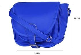 AL NOONE STAR Women Solid Pu - Sling Bag Blue