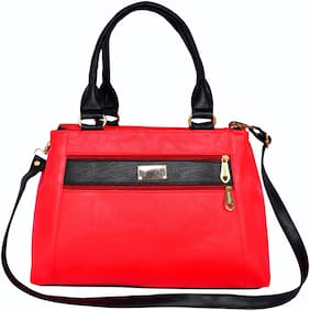 All Day 365 Red PU Shoulder Bag