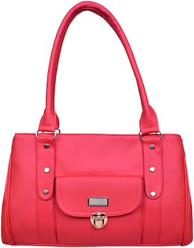 All Day 365 Red Faux Leather Shoulder Bag - HANDBAGS AD620_AD627
