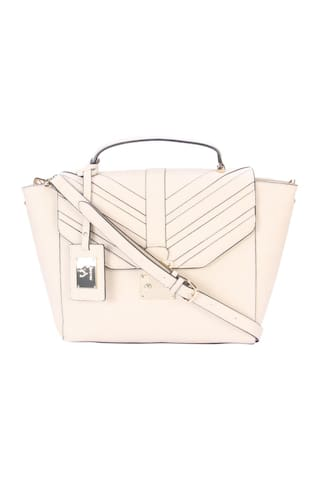 Allen Solly Women Solid Pu - Sling Bag Beige
