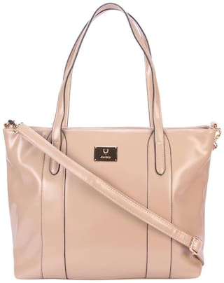 Allen Solly PU Women Handheld Bag - Beige