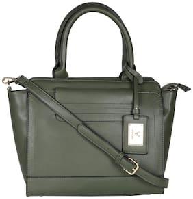 Allen Solly PU Women Handheld Bag - Green