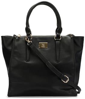 Allen Solly PU Women Handheld Bag - Black