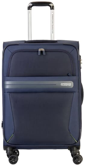 American Tourister Large Size Soft Luggage Bag ( Blue , 8 Wheels )