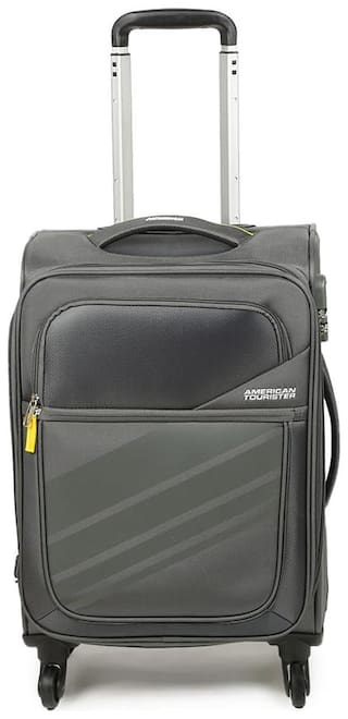 American Tourister Cabin Size Soft Luggage Bag - Grey , 4 Wheels