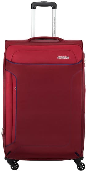 American Tourister Cabin Size Soft Luggage Bag - Maroon , 4 Wheels