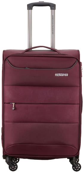 American Tourister Large Size Soft Luggage Bag - Maroon , 4 Wheels
