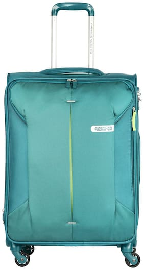 American Tourister Medium Size Soft Luggage Bag - Green , 4 Wheels