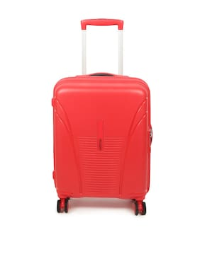 American Tourister AMERICAN TOURISTER SKYTRACER PLUS SPINNER55-F.RED Medium Size Hard Luggage Bag ( Red , 4 Wheels )
