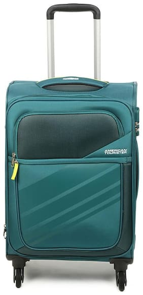 American Tourister Cabin Size Soft Luggage Bag - Blue , 4 Wheels