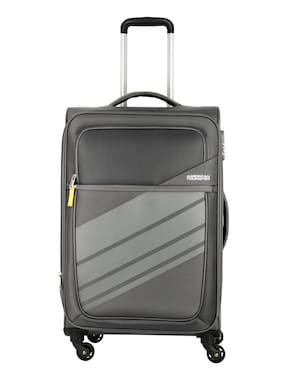 American Tourister Grey Solid Luggage BagFor Unisex