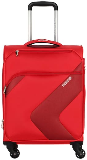 American Tourister Cabin Size Soft Luggage Bag ( Red , 4 Wheels )