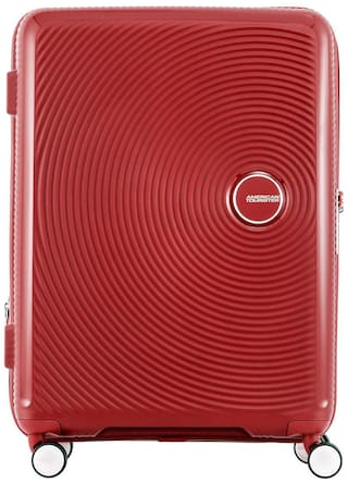 American Tourister Large Size Hard Luggage Bag ( Red , 8 Wheels )