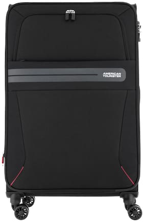 American Tourister Cabin Size Soft Luggage Bag - Black , 8 Wheels