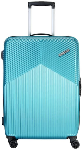 American Tourister Cabin Size Hard Luggage Bag ( Blue , 8 Wheels )