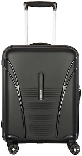 American Tourister Large Size Hard Luggage Bag ( Black , 8 Wheels )