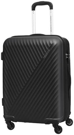 American Tourister Medium Size Hard Luggage Bag ( Black , 4 Wheels )