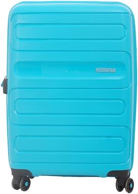 American Tourister Sunside Medium Size Hard Luggage Bag ( Blue , 4 Wheels )