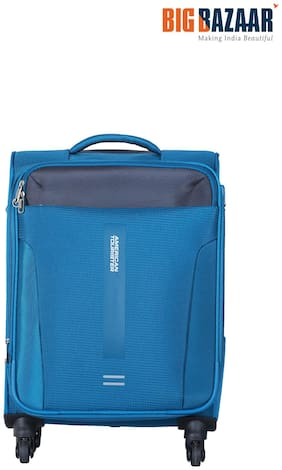 American Tourister Madison Cabin Size Soft Luggage Bag ( Blue , 4 Wheels )