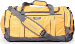 American Tourister Polyester Men Duffle Bag - Yellow