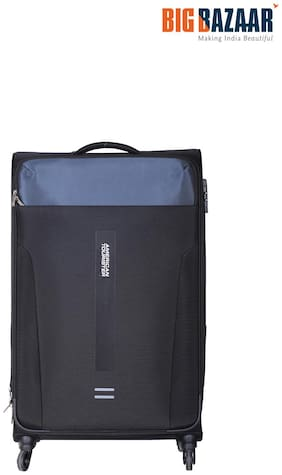 American Tourister Madison Cabin Size Soft Luggage Bag ( Black , 4 Wheels )