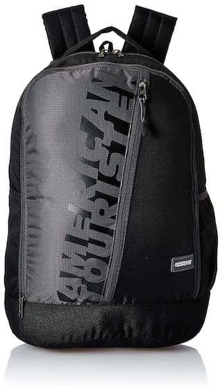 American Tourister Black Polyester Backpack