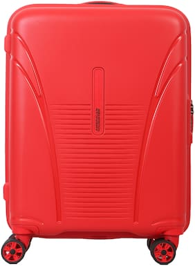 American Tourister Skytracer Plus Cabin Size Hard Luggage Bag ( Red , 4 Wheels )
